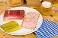 Cold meal, German cuisine Royalty Free Stock Photo