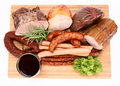 Cold meat and wine Royalty Free Stock Photo