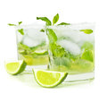 Cold mojito drink Royalty Free Stock Photo