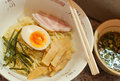 Cold ramen with egg japanese food Stock Photo