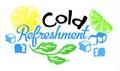 Cold Refreshment sticker in watercolor style