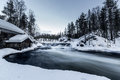 Cold river Royalty Free Stock Photo