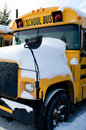Cold School Bus Royalty Free Stock Images