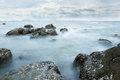 Cold sea for some time the feels cool and comfortable Royalty Free Stock Images
