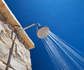 Cold Shower in the Hot Summer Day Royalty Free Stock Photo