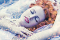 Cold snow queen Royalty Free Stock Photo