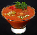 Cold Spanish soup gaspacho Royalty Free Stock Images