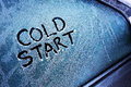 Cold start Royalty Free Stock Photo