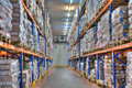 Cold storage refrigerated warehousing, frozen food Royalty Free Stock Photo