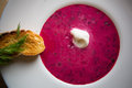 Cold summer Beets soup Royalty Free Stock Photo