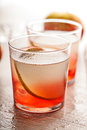 Cold summer cocktail drink with pear sweet Royalty Free Stock Photos