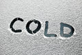 Cold text Stock Images