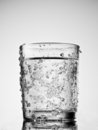 Cold water glass Stock Photo