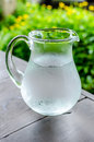 Cold water in the Water Pitcher Royalty Free Stock Photo