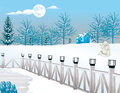 Cold Winter Night, illustration Royalty Free Stock Image