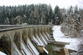 Cold winters day sedlice dam czech republic on a Royalty Free Stock Photos