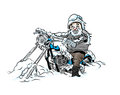 ColdBiker Stock Image