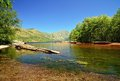 Coldwater lake in mount st helens national volcanic monument washington state Stock Photo