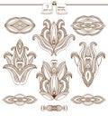 Coleção abstrata dos elementos do projeto Imagens de Stock Royalty Free