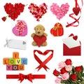 Coleção do dia do Valentim Fotografia de Stock