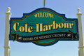 Cole harbour sign proud of crosby the at the entrance on portland street proudly proclaims the town to be the home nhl superstar Royalty Free Stock Images