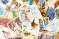 Colección de viejos sellos Imagen de archivo