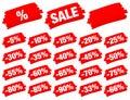 Red Brush Strokes Sale Minus