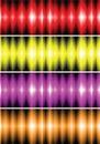 Coleção de equalizadores digitais Imagens de Stock