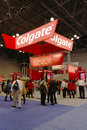 Colgate booth at the greater ny dental meeting in new york december on december is an oral hygiene product line Royalty Free Stock Photo