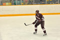 Colgate player in NCAA Ice Hockey Game Royalty Free Stock Images