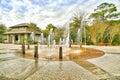 Coligny Beach Fountain Royalty Free Stock Photo