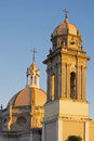 Colima cathedral with tower and dome partial view of mexico Royalty Free Stock Images