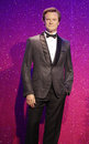 Colin firth wax statue at madame tussauds in london Royalty Free Stock Photography