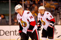 Colin Greening and Milan Michalek Ottawa Senators Stock Images