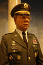 Colin powell wax figure Arkivfoto