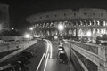 Coliseum Black and White Rome Italy Touristic Place Building Royalty Free Stock Photo