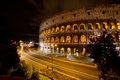 Coliseum by night rome italy the colosseum was built in the s ad and was the largest amphitheatre built during the roman empire Stock Photos