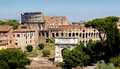 The coliseum rome as seen from palatine hill Royalty Free Stock Image