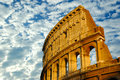 The coliseum in Rome, Italy Royalty Free Stock Photography