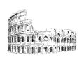 Coliseum in Rome, Italy. Royalty Free Stock Photo