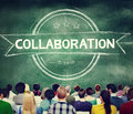 Collaboration cooperation partnership corporate concept Royalty Free Stock Image