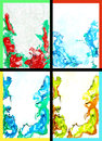 Collage of abstract hand drawn paint backgrounds Stock Photography