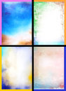 Collage of abstract hand drawn paint backgrounds Stock Photo