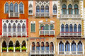 Collage of balconies in Venice, Italy Royalty Free Stock Photo