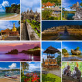Collage of Bali Indonesia travel images my photos Royalty Free Stock Photo