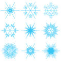 Collage of blue snowflakes Stock Photo