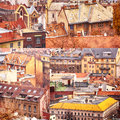 Collage of buildings from Budapest Stock Image