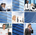 A collage of business images with young people Royalty Free Stock Photo
