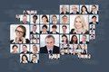Collage of business people Royalty Free Stock Photo