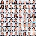 Collage of business people smiling Royalty Free Stock Photo